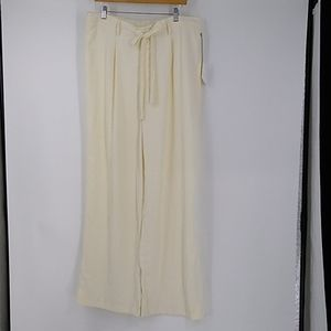 A New Day Cream Belted Wide Leg Pants